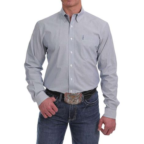 Cinch Modern Fit Blue Pin Stripe Long Sleeve Shirt