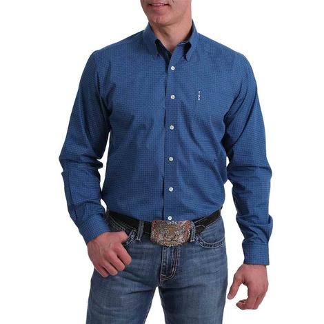 Cinch Modern Fit Blue Print Long Sleeve