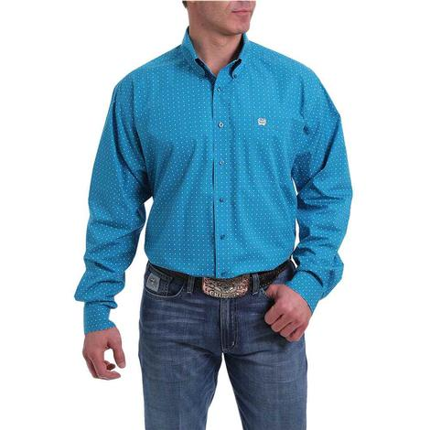 Cinch Plus Turquoise Print Long Sleeve Print Long Sleeve