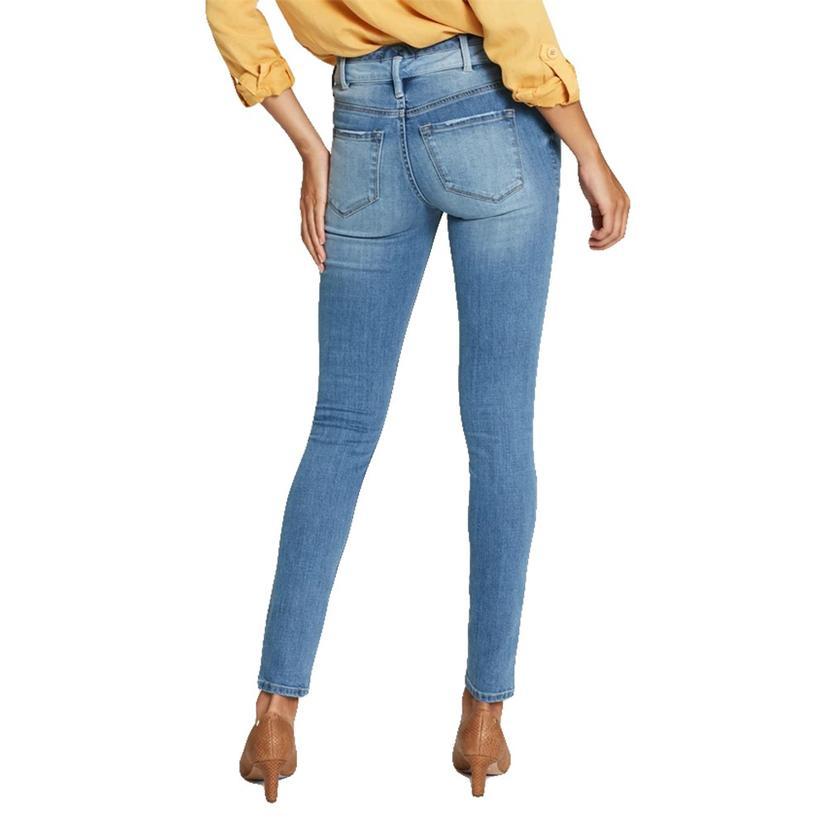 Dear John Denim Gisele High Rise Two Tone Double Waistband Women's Jeans
