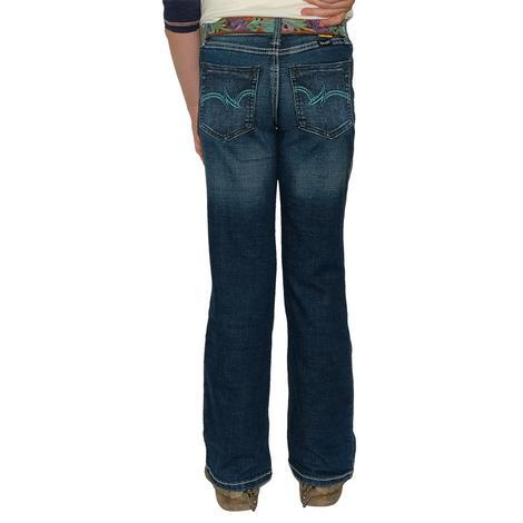Wrangler Dark Wash Bootcut Girl's Jeans