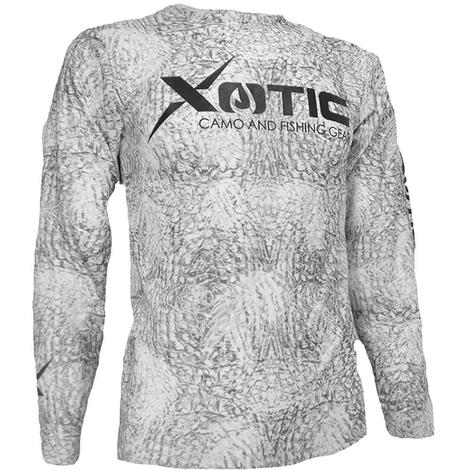 Xotic Artic White Long Sleeve Men's Performance Shirt