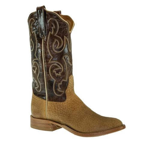 Rios of Mercedes Distressed American Bison with Bone Explosion Men's Boots