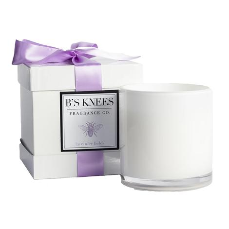 Bees Knees 3 Wick Lavender Fields White Candle