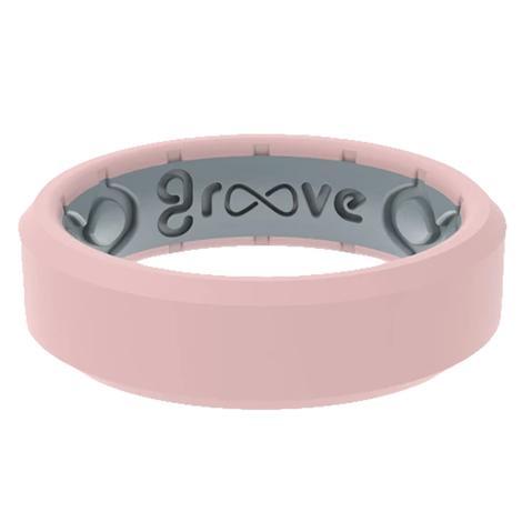 Groove Life Edge Thin Rose Quartz Ring