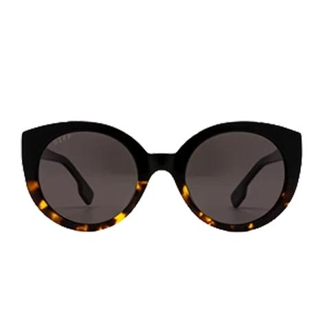 DIFF Eyewear Emmy Black Tortoise Gradient and Brown Gradient Lens Sunglasses