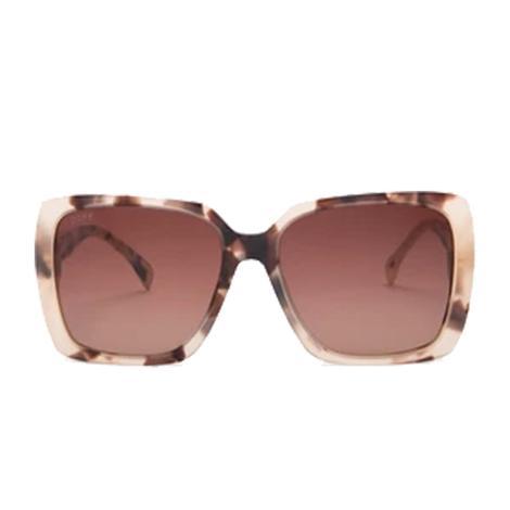 DIFF Eyewear Sophie Cream Tortoise and Brown Gradient Lens Sunglasses