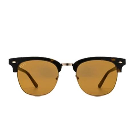 DIFF Eyewear Blair Dark Tortoise With Gold and Gold Mirror Lens Sunglasses