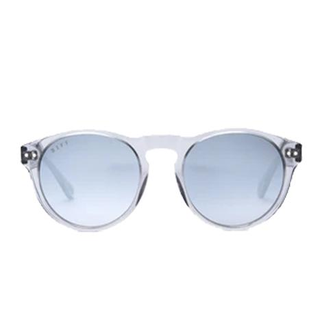 DIFF Eyewear Cody Smoke Crystal and Grey Mirror Sunglasses