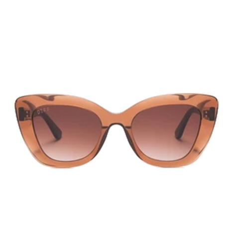 DIFF Eyewear Raven Dark Taupe Crystal and Brown Sunglasses