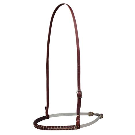 Professional Choice Double Rope Leather Covered Noseband