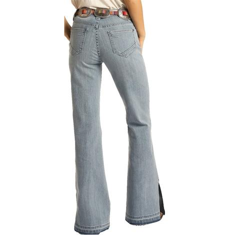 Rock and Roll Cowgirl Light Vintage Women's Trouser Jeans