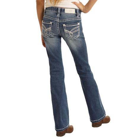 Rock and Roll Cowgirl Medium Vintage Girl's Bootcut Jeans