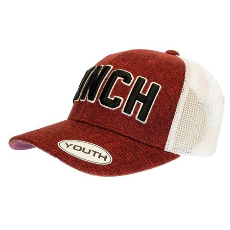 Cinch Youth Boy's Mesh Back Trucker Cap with 3D Logo Embroidery