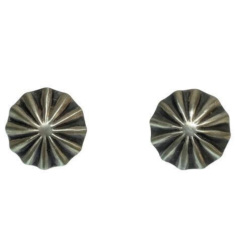 Women's Sterling Silver Concho Earrings