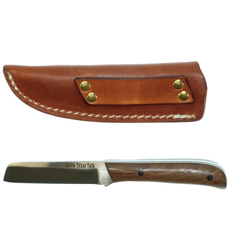 Stt Signature Series Razor Knife In Mesquite Scales