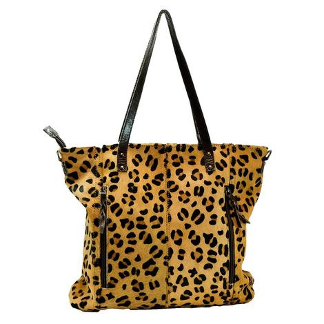 American Darling Bags Cheetah Hide Tote