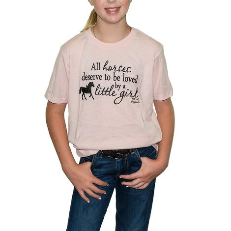 Elle M. Originals All Horses Girls Tee