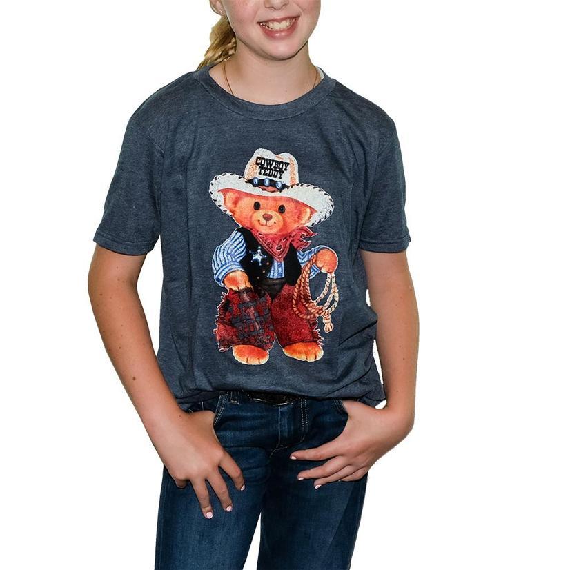 Elle M Original Cowboy Teddy Tee NAVY