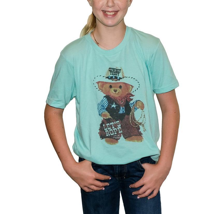 Elle M Original Cowboy Teddy Tee TURQUOISE