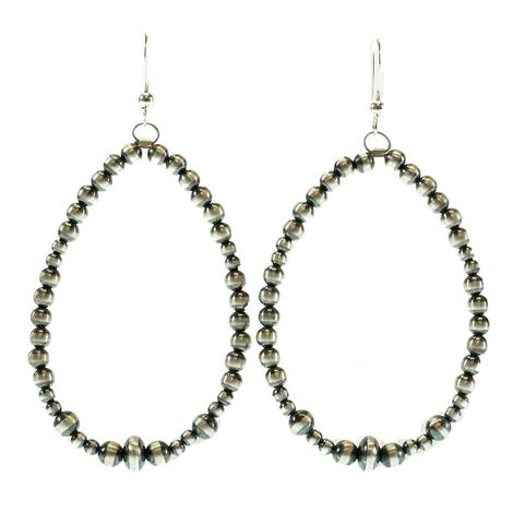 STT Navajo Pearl Hoop Earrings