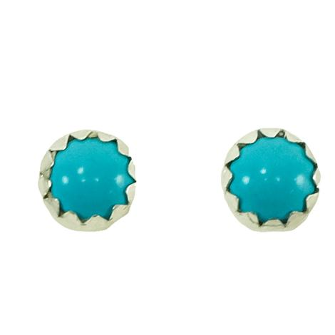 STT Silver Turquoise Small Stud Earrings