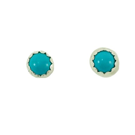 STT Small Silver Turquoise Small Stud Earrings