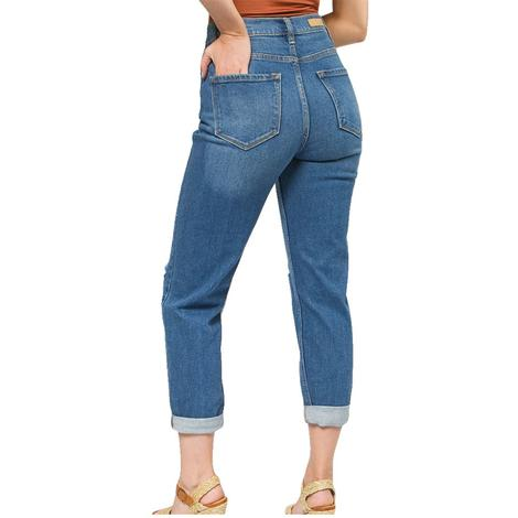 Cello High Rise Knee Hole Cuffed Women's Skinny Jeans
