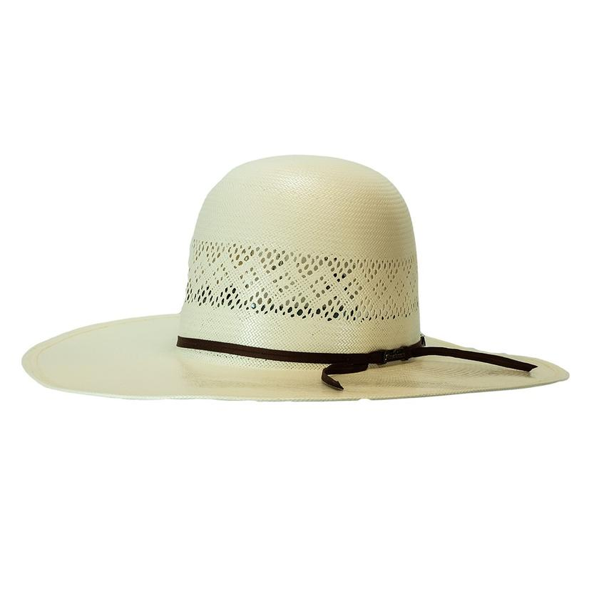 American Hat Company 4.5inch Brim Open Crown Natural Straw Hat - Black Band
