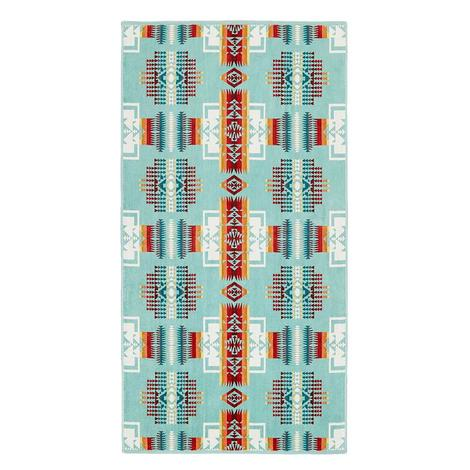 Pendleton Wool Chief Joseph Aqua Bath Towel