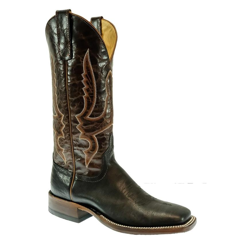 Anderson Bean Black Denver Calf With Chocolate Explosion Women's Boots