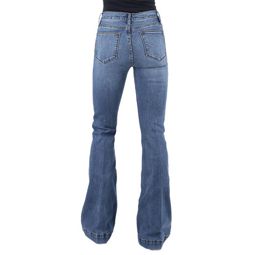 Stetson High Rise Plain Pocket Flare Women's Jeans