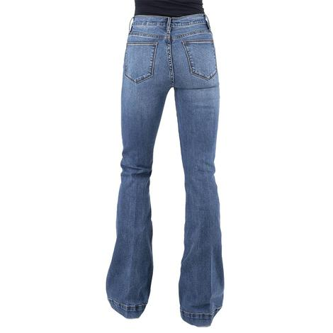 Stetson High Rise Plain Pocket Flare Women's Jeans