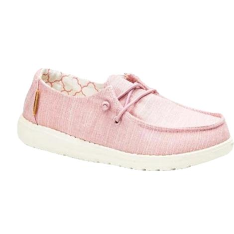 Hey Dude Wendy Linen Cotton Candy Girl's Shoes