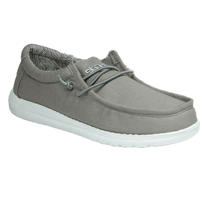 Hey Dude Wally Grey Boy's Shoes