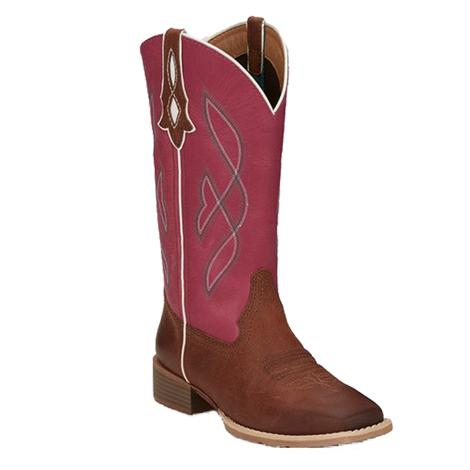 Justin Gypsy Breakaway Ruby Brown Pink Top Women's Boots
