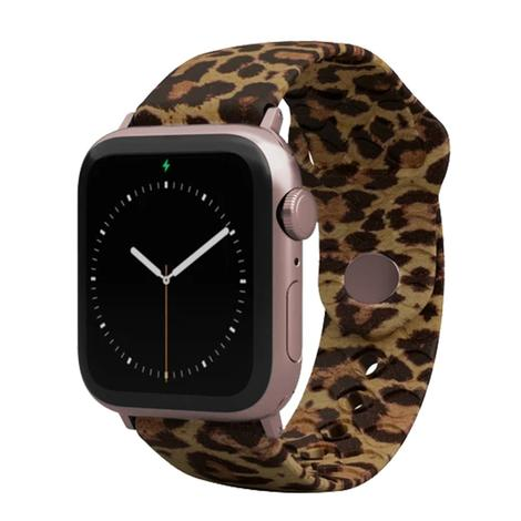 Groove Life Apple Watch Band Leopard Print with Rose Gold
