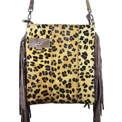 American Darling Bags Cheetah Crossbody with Fringe