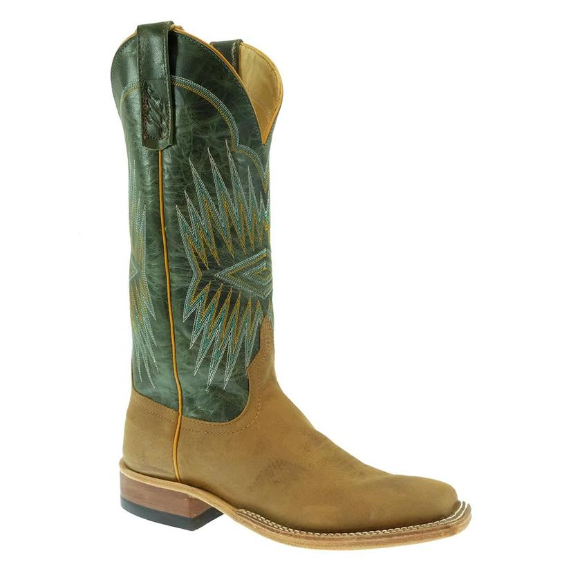Anderson Bean Turquoise Explosion Dun Rough Rider Women's Boots
