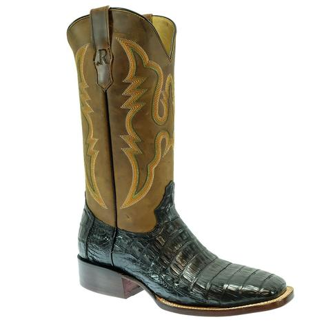 R. Watson Black Caiman Tail Men's Boots