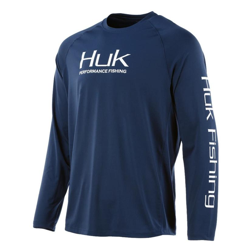 Huk Pursuit Sargasso Sea Vented Long Sleeve Men's Shirt