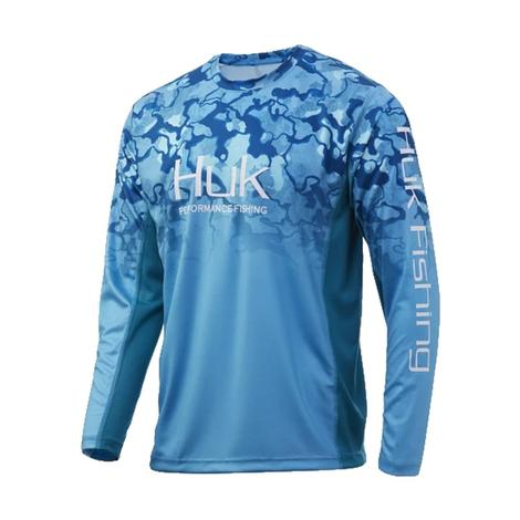 Huk Icon X Camp Fade in North Drop Long Sleeve Men's Shirt
