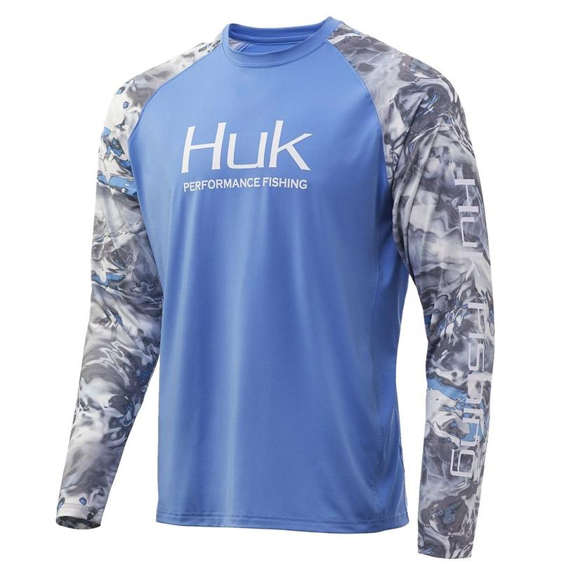 Huk Mossy Oak Double Header Standards Long Sleeve Men's Shirt