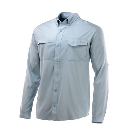 Huk Tide Point Plein Air Solid Long Sleeve Buttondown Men's Shirt