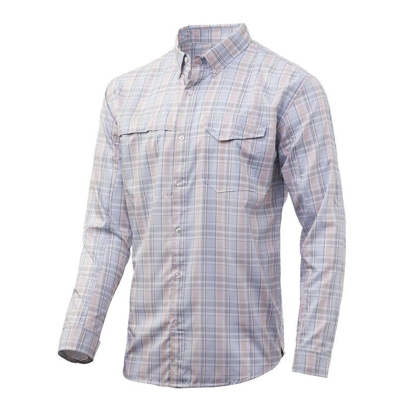 Huk Tide Point Plaid Long Sleeve Mens Shirt