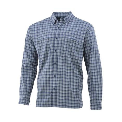Huk Cascade Box Long Sleeve Mens Shirt