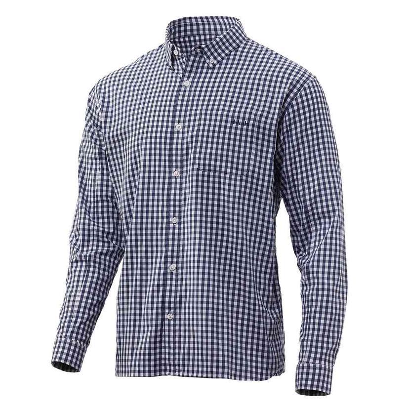 Huk Gingham Woven Long Sleeve Shirt