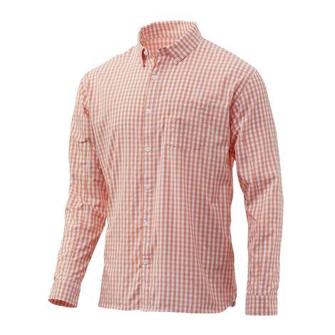HUK Gingham Woven Long SLeeve Shirt.