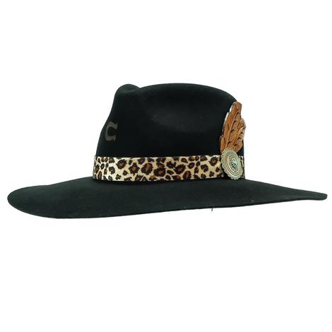 Charlie 1 Horse Heat Seeker with Leopard Band Felt Hat