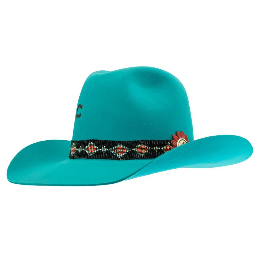 Charlie 1 Horse Wild Tribe Turquoise Felt Hat